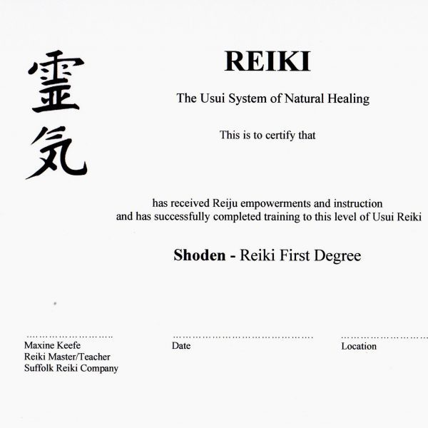 courses - Reiki 1 certificate - Copy